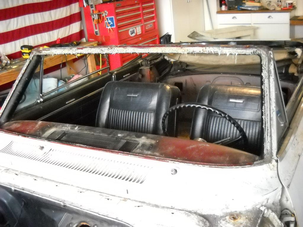 1963 Nova SS in restoration